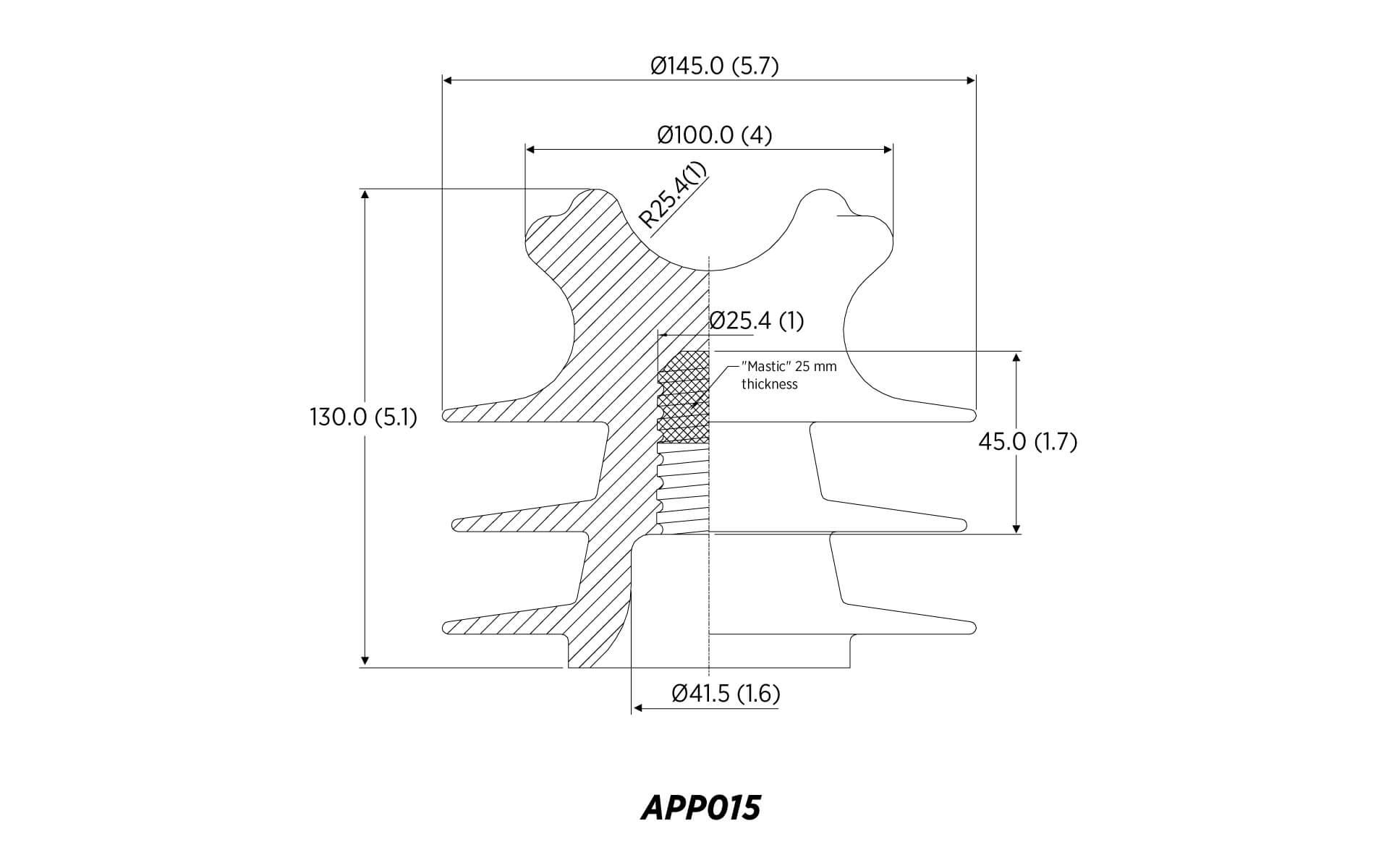 POLYETHYLENE PIN ANSI 55-4 15KV