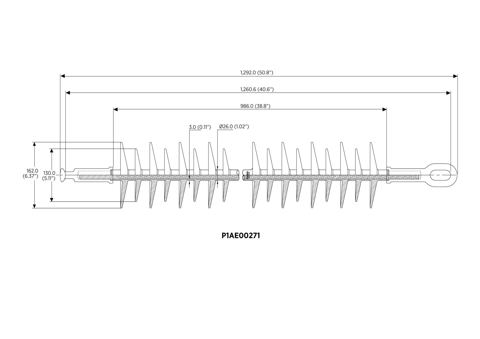 SUSPENSIÓN POLIMÉRICA IEC 61109 115kV 120kN