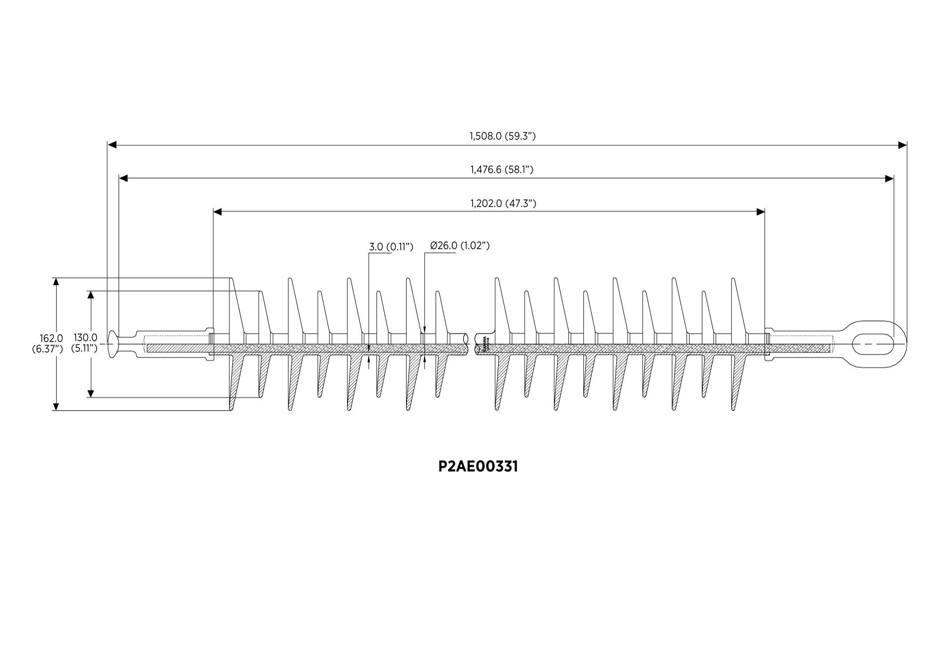 POLYMER SUSPENSION IEC 61109 138KV 120KN