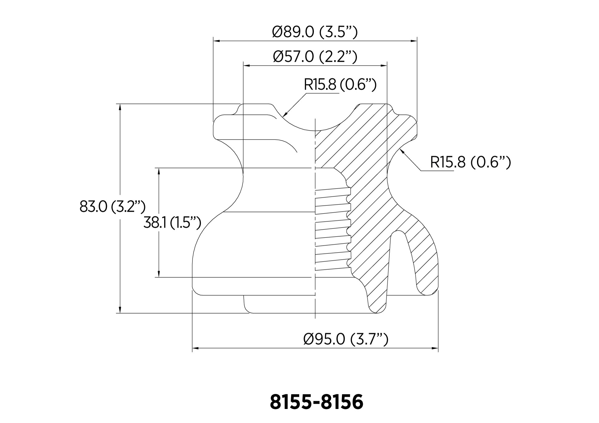 PIN ANSI 55-2 11.1kN 7.2KV CON RF