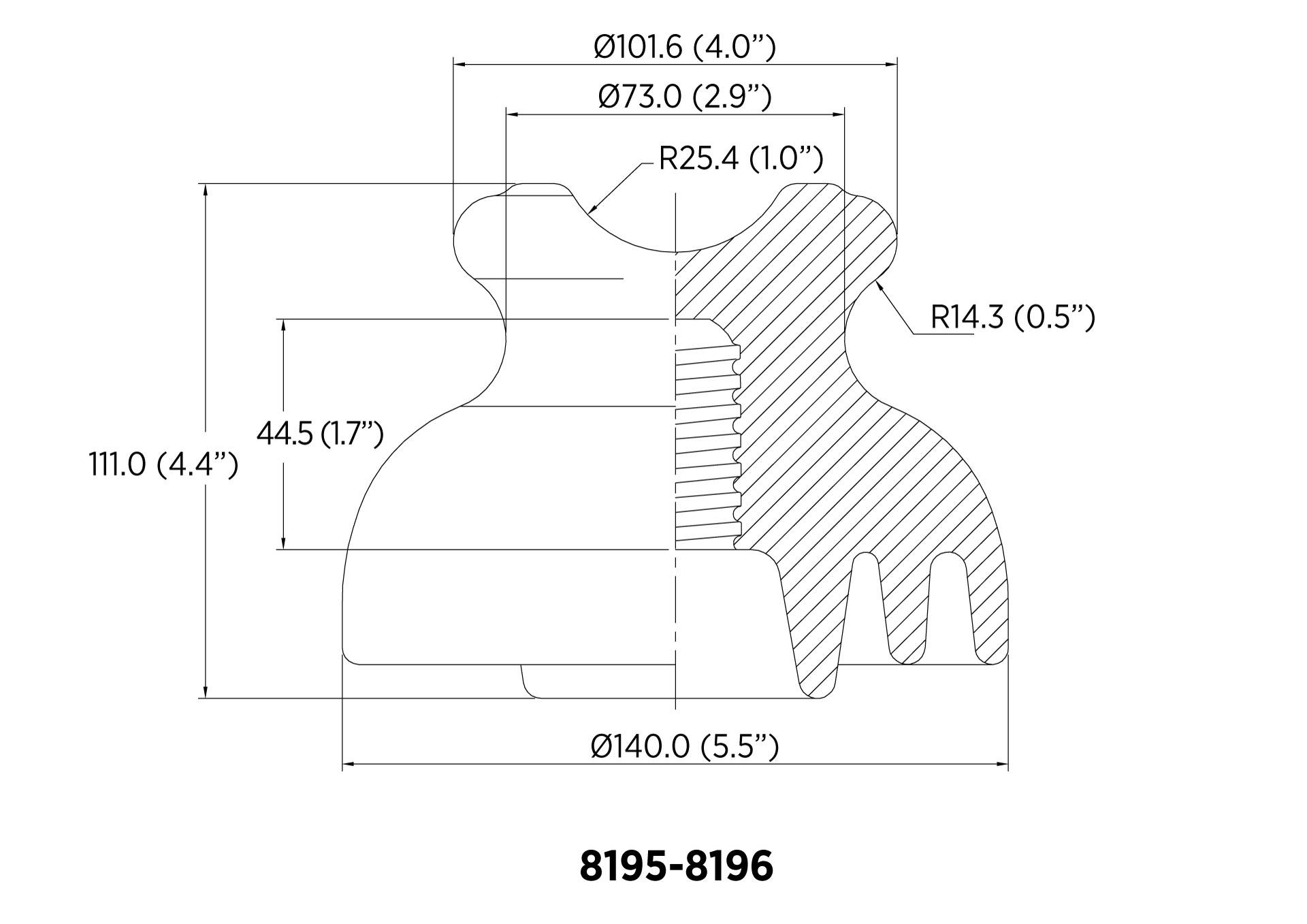 PIN ANSI 55-4 13.4kN 13.2KV