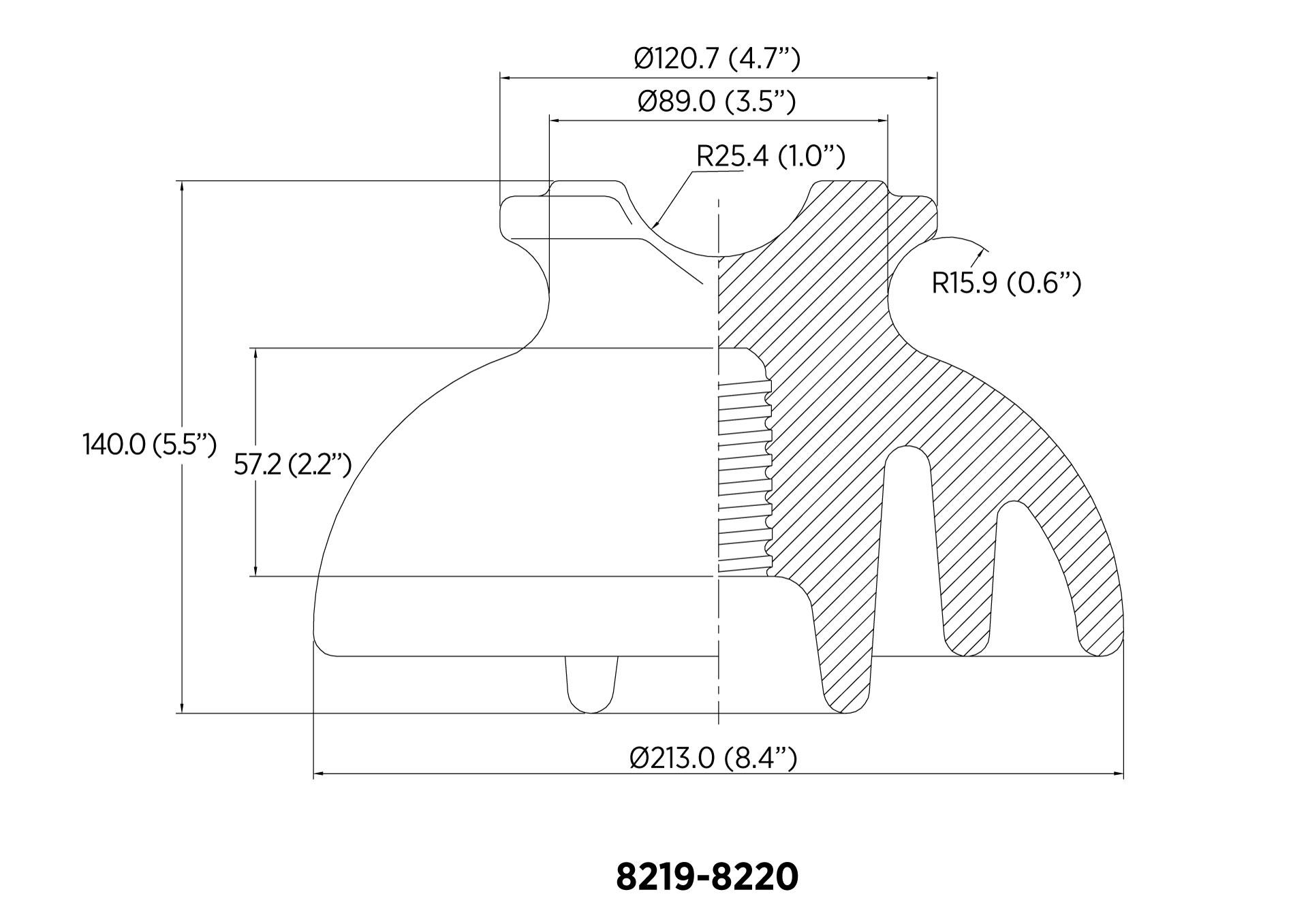 PIN ANSI 55-6 13.4kN 23KV