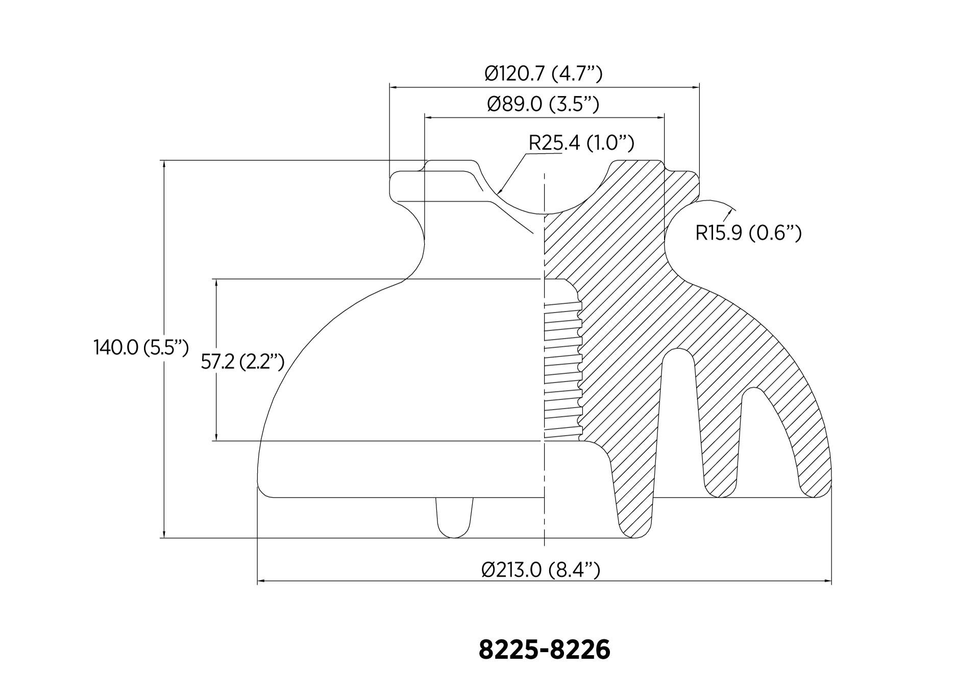 PIN ANSI 55-7 13.4kN 23KV