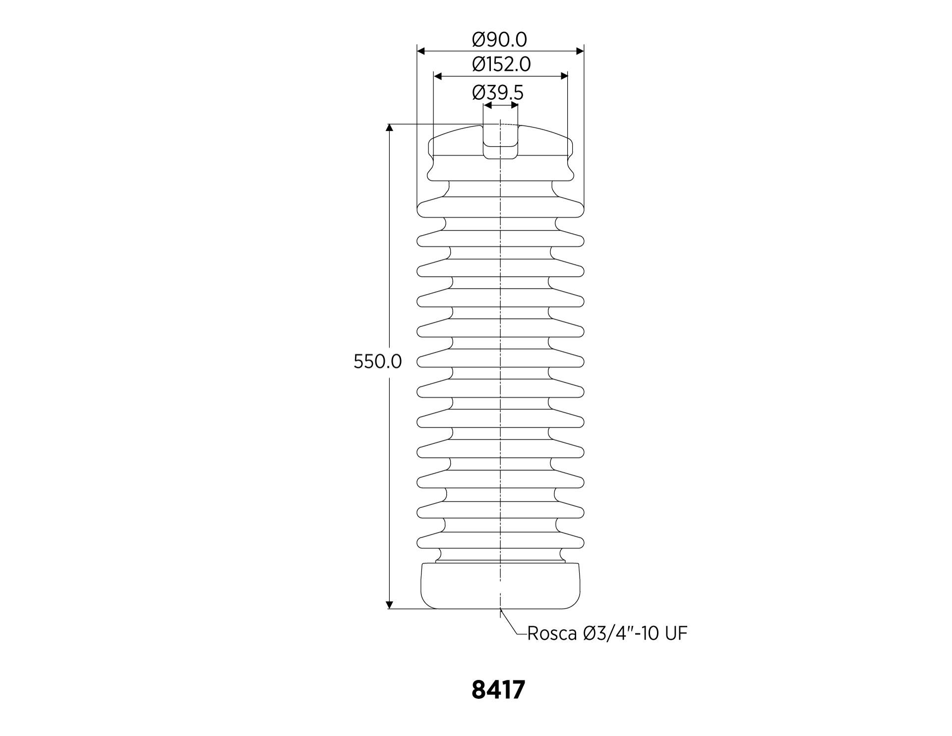 LINE POST ANSI 57-5 12.5kN 66KV